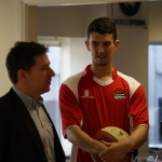 Lancashire Spinners visit World Options HQ
